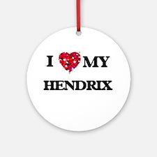 I Love MY Hendrix Ornament (Round)