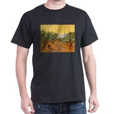 Van Gogh Olive Trees Yellow Sky Sun T-Shirt