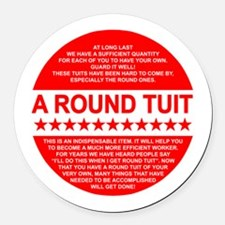 A Tuit Round Car Magnet