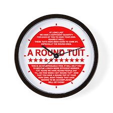 A Round Tuit Novelty Wall Clock