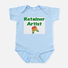 Retainer Artist Rainbow Green Infant Bodysuit