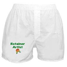 Retainer Artist Rainbow Green Boxer Shorts