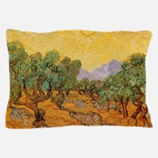 Van Gogh Olive Trees Yellow Sky Sun Pillow Case