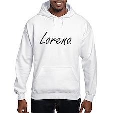 Lorena artistic Name Design Hoodie Sweatshirt