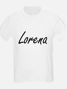 Lorena artistic Name Design T-Shirt