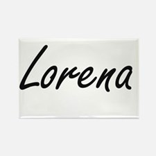 Lorena artistic Name Design Magnets