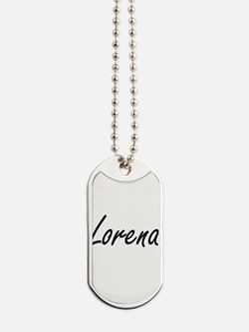 Lorena artistic Name Design Dog Tags
