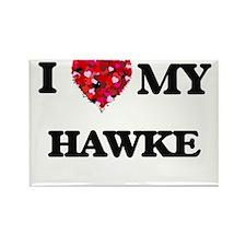 I Love MY Hawke Magnets