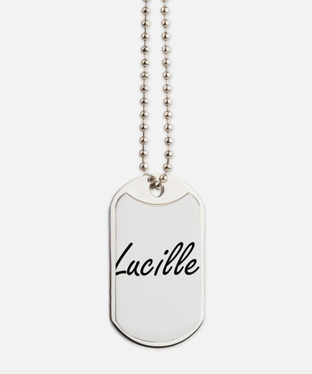Lucille artistic Name Design Dog Tags