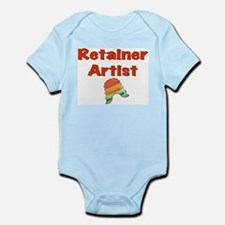 Retainer Artist Rainbow Green Infant Bodysuit