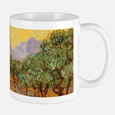 Van Gogh Olive Trees Yellow Sky Sun Mugs