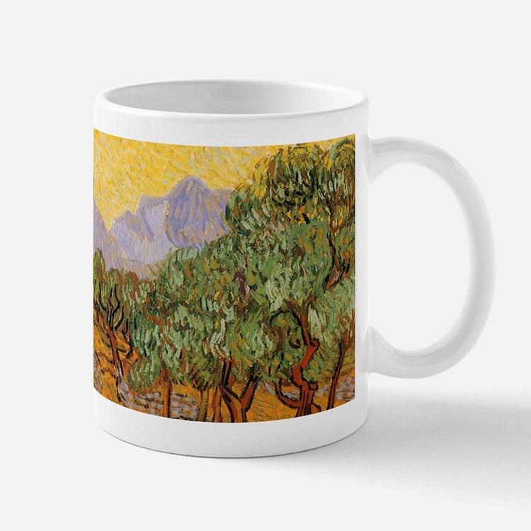 Van Gogh Olive Trees Yellow Sky Sun Mugs