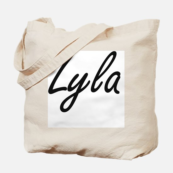 Lyla artistic Name Design Tote Bag