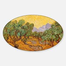 Van Gogh Olive Trees Yellow Sky Sun Decal