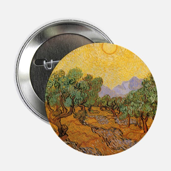 "Van Gogh Olive Trees Yellow 2.25"" Button (10 pack)"