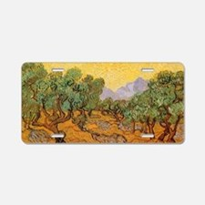 Van Gogh Olive Trees Yellow Aluminum License Plate