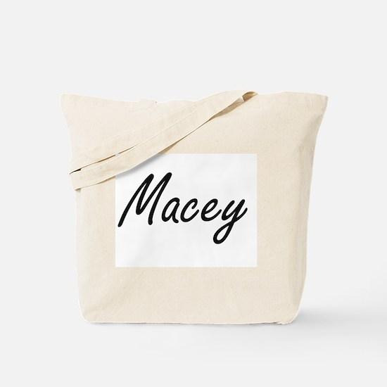 Macey artistic Name Design Tote Bag