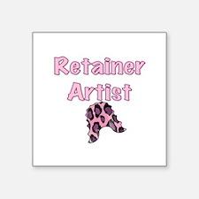 """Retainer Artist Pink Square Sticker 3"""" x 3"""""""