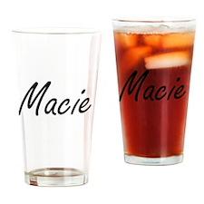 Macie artistic Name Design Drinking Glass