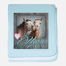 Cute I heart nez perce horse baby blanket