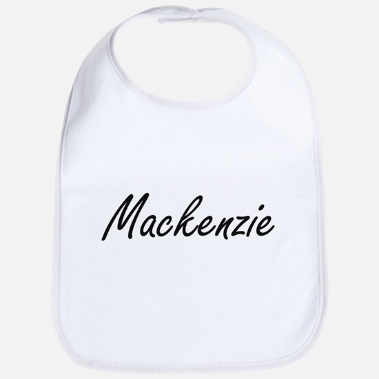 Mackenzie artistic Name Design Bib