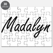 Madalyn artistic Name Design Puzzle