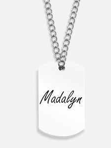 Madalyn artistic Name Design Dog Tags