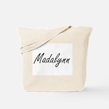Madalynn artistic Name Design Tote Bag