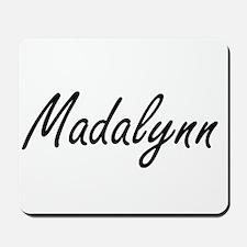 Madalynn artistic Name Design Mousepad