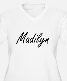 Madilyn artistic Name Design Plus Size T-Shirt