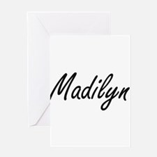 Madilyn artistic Name Design Greeting Cards