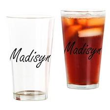 Madisyn artistic Name Design Drinking Glass