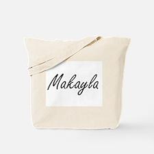 Makayla artistic Name Design Tote Bag