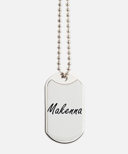 Makenna artistic Name Design Dog Tags