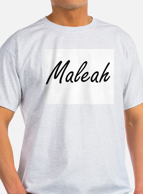 Maleah artistic Name Design T-Shirt