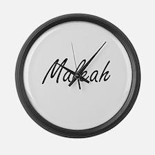Maleah artistic Name Design Large Wall Clock