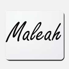 Maleah artistic Name Design Mousepad