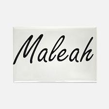 Maleah artistic Name Design Magnets