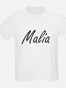 Malia artistic Name Design T-Shirt