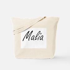 Malia artistic Name Design Tote Bag