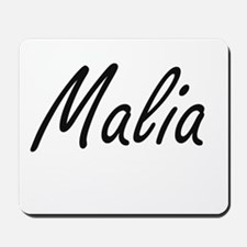 Malia artistic Name Design Mousepad