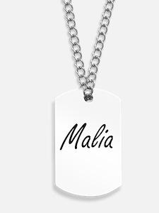 Malia artistic Name Design Dog Tags