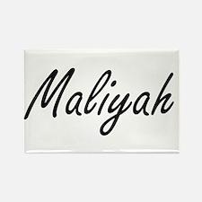 Maliyah artistic Name Design Magnets