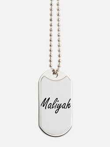 Maliyah artistic Name Design Dog Tags