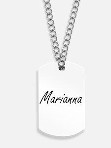 Marianna artistic Name Design Dog Tags