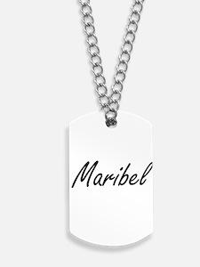 Maribel artistic Name Design Dog Tags