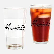 Mariela artistic Name Design Drinking Glass