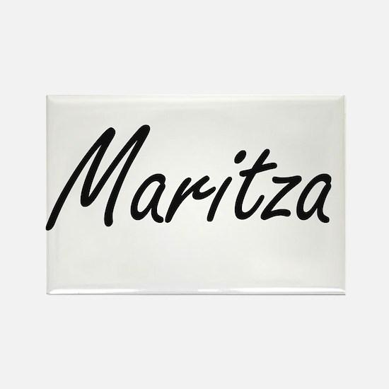 Maritza artistic Name Design Magnets