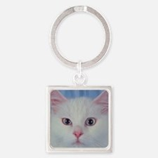 White Cat Keychains