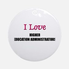 I Love My ACADEMIC LIBRARIAN Ornament (Round)